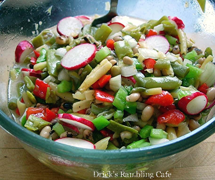 Marinated Vegetable Salad ~ Drick's Rambling Cafe