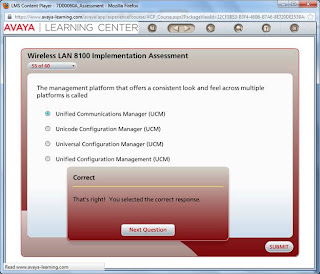 Avaya Wireless LAN 8100 Implementation Assessment Exam - 2