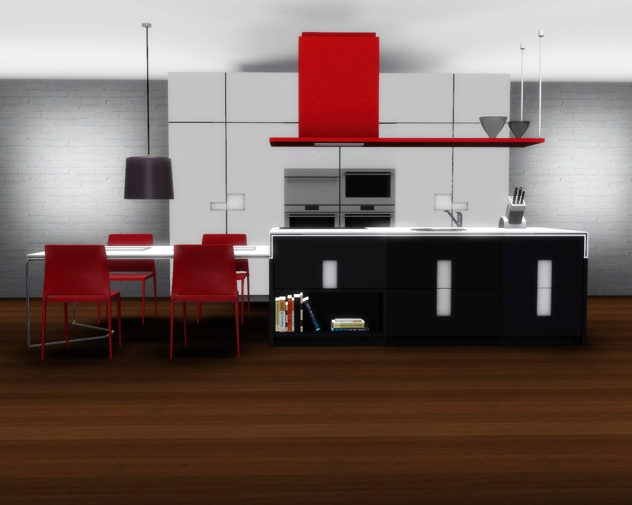 Empire sims 3 kitchen set by keat for Kitchen set sims 4