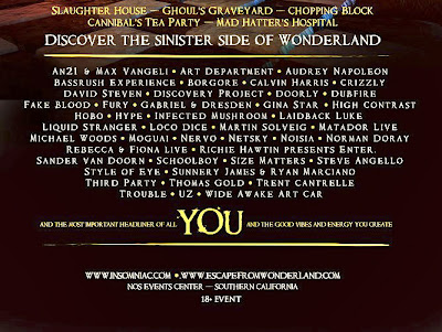 escape from wonderland 2012 lineup announced tickets now on sale gde
