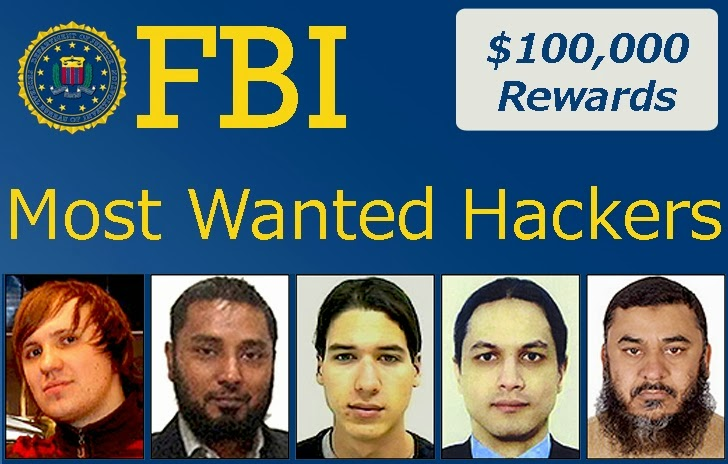 FBI offering $100,000 reward for information on Most Wanted Cyber Criminals