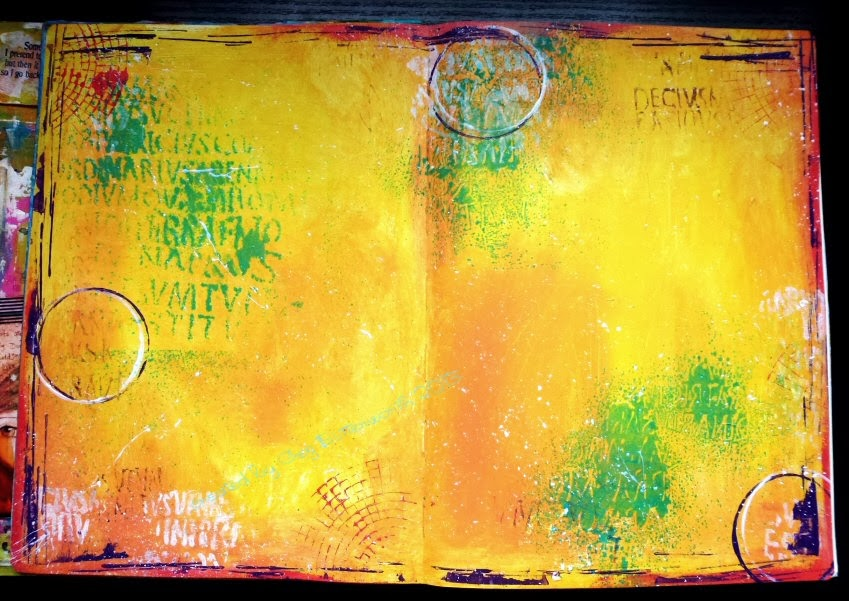 Art Journal Calendar Pages : A sprinkle of imagination art journal calendar pages