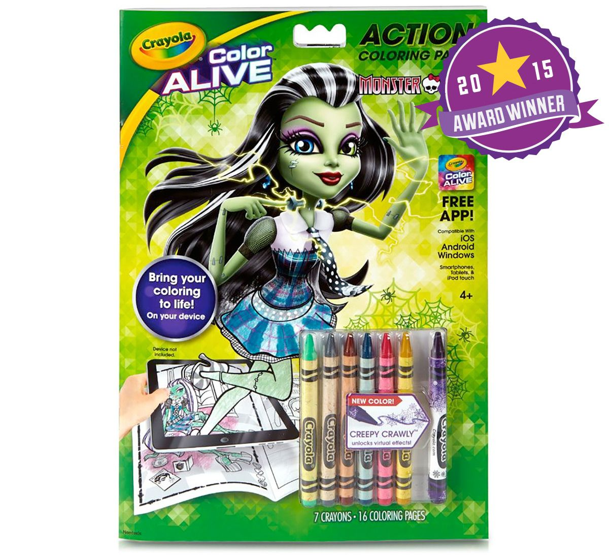 new crayola colors for 2015 with their new color alive product
