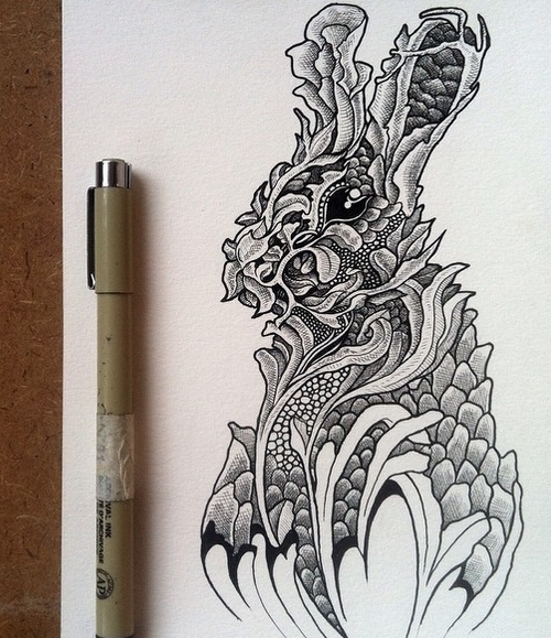 08-Rabbit-Muthahari-Insani-Beautifully-Detailed-Ink-Drawings-and-Doodles-www-designstack-co