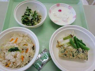 写真:パルス入院3クール最終日の昼食
