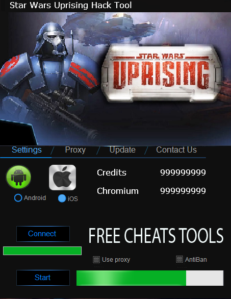 Game Star Wars Uprising v2.0.0 Hack Full Cho Android