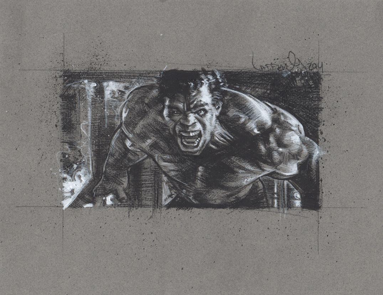 Hulk, Mark Ruffalo, Artwork is Copyright © 2014 Jeff Lafferty