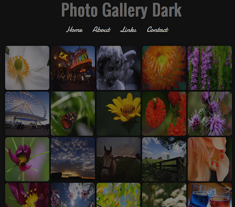 Photo Gallery Dark Blogger Theme