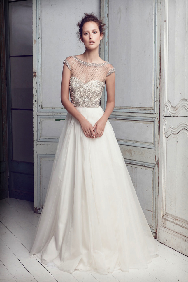 Dress of The Week Lattice pearls beaded bodice gown