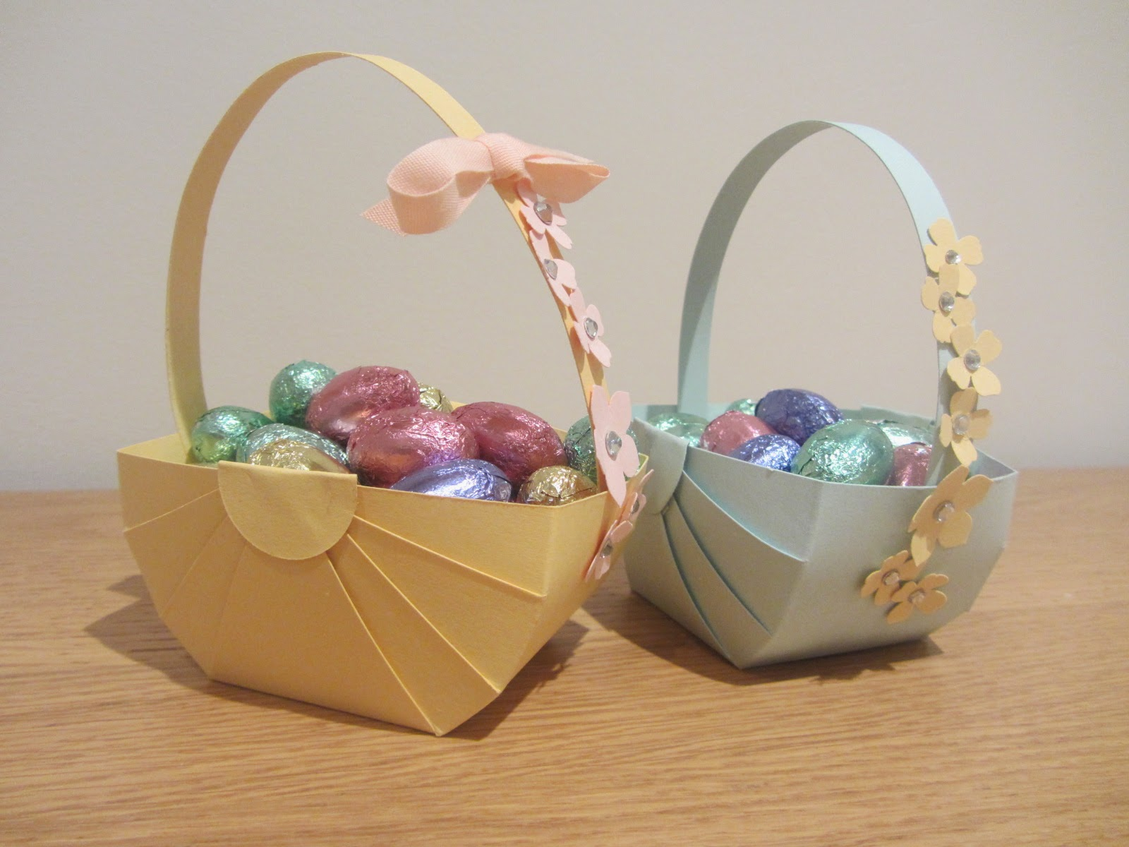 Easter Basket Papercraft Tutorial