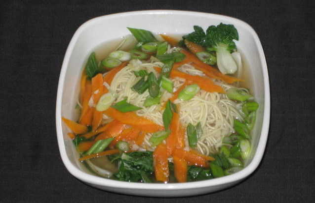 Bok Choy and Noodle Chicken Soup
