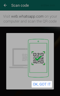 Scan code - Cara Menggunakan Whatsapp di Komputer (PC atau Laptop)