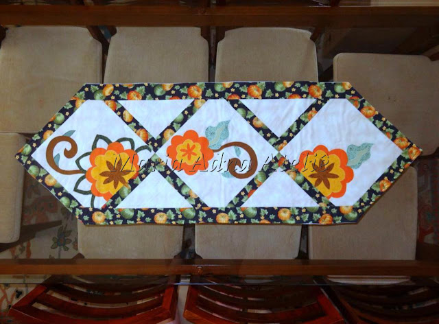 Patchwork, apliquê, Patchwork apliquê, caminho de mesa, trilho de mesa, Maria Adna, Maria Adna Ateliê