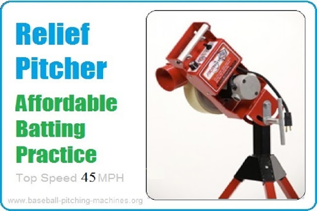 The Relief Pitcher Is Now First Pitch Most Affordable Baseball Softball Combo Pitching Machine!!!
