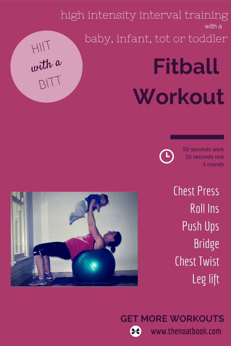 HIIT with a BIIT high intensity fitball work out with your baby