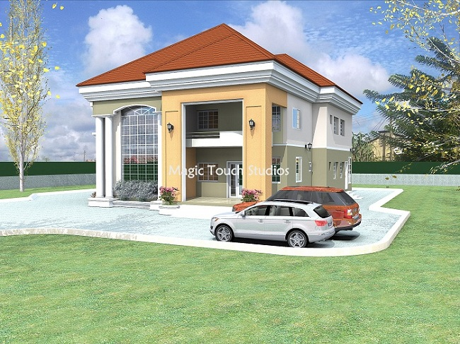 6 bedroom duplex for Modern duplex house plans in nigeria