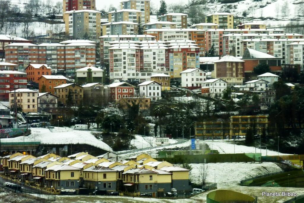 Paisaje urbano,nieve,Santa Ana