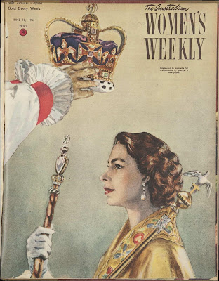 Cover Australian Women's Weekly, 10 June 1953, with Queen Elizabeth on the cover
