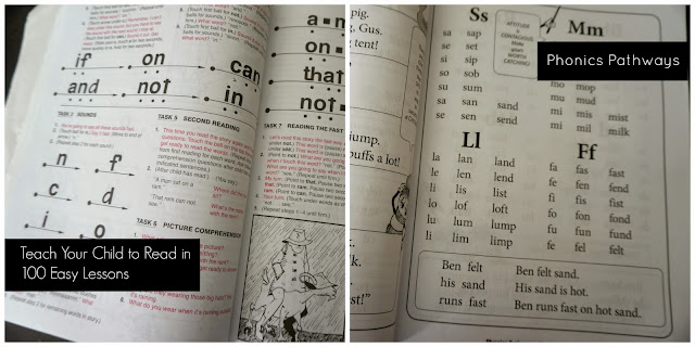 A comparison of Teach Your Child to Read in 100 Easy Lessons and Phonics Pathways