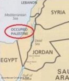 Borran el nombre de Israel del mapa