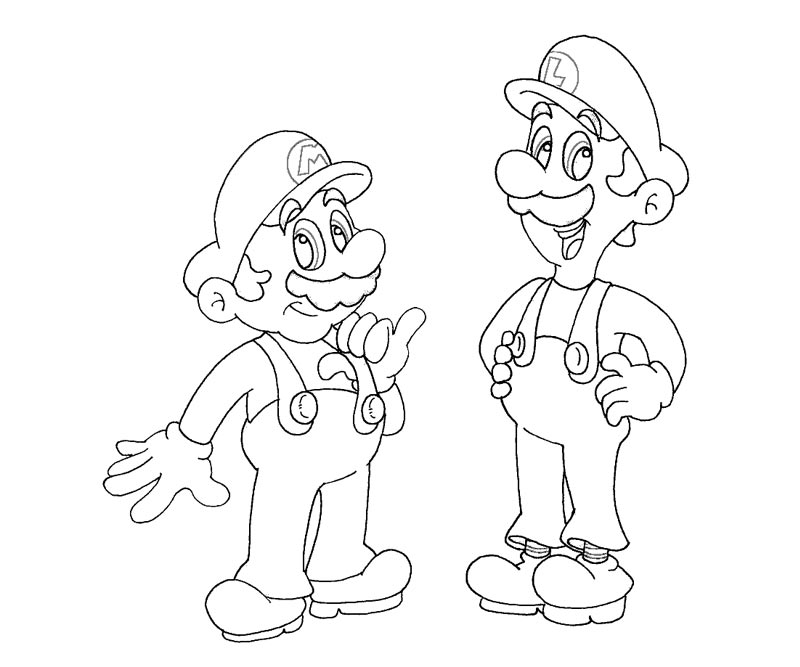 luigi printable coloring pages - mario and luigi color pages free coloring pages