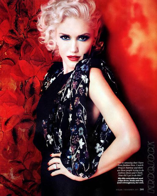 Gwen Stefani Instyle US Magazine photo-shoots by Michelangello Di Battista