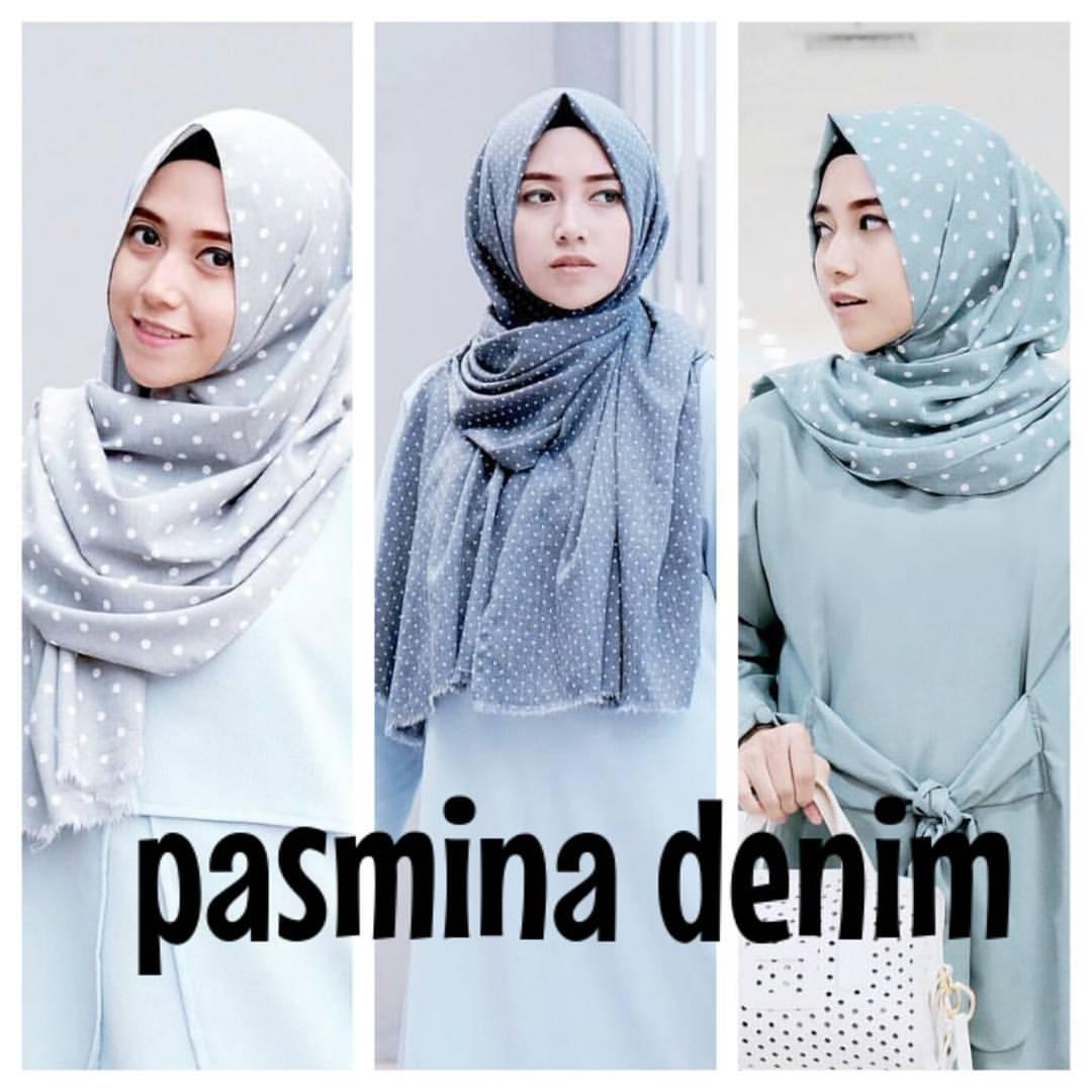 Jilbab Pasmina Denim By Umama Scarft Jual Jilbab Pasmina Denim