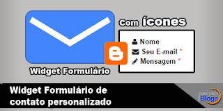 Widget Formulário de contato com ícones em uma determinada página do Blog