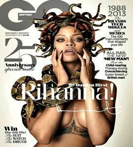 À la medusa, Rihanna aparece com cobras na cabeça em capa de revista