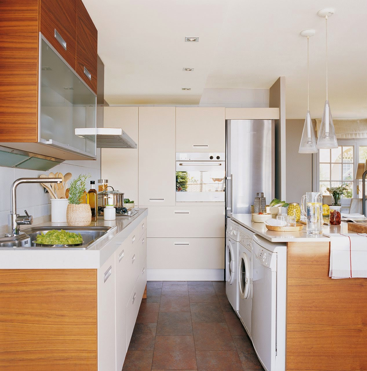 Decotips integrar la zona de lavadero en la cocina - Lavadora secadora pequena ...