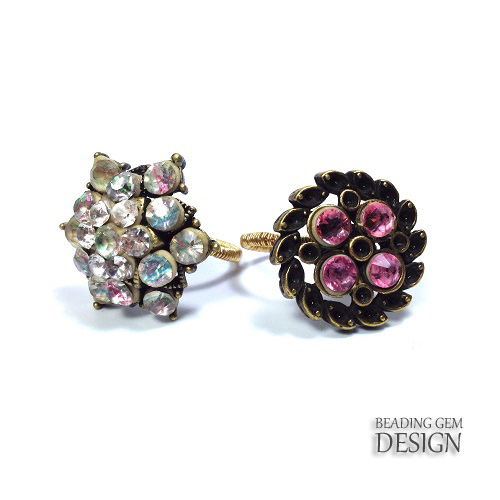 How to Make a Wire Wrapped Shank Button Ring Tutorial - The Beading ...