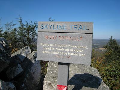 Skyline Trail Sign Hawk Mountain Sanctuary Kempton Pennsylvania PA 19529