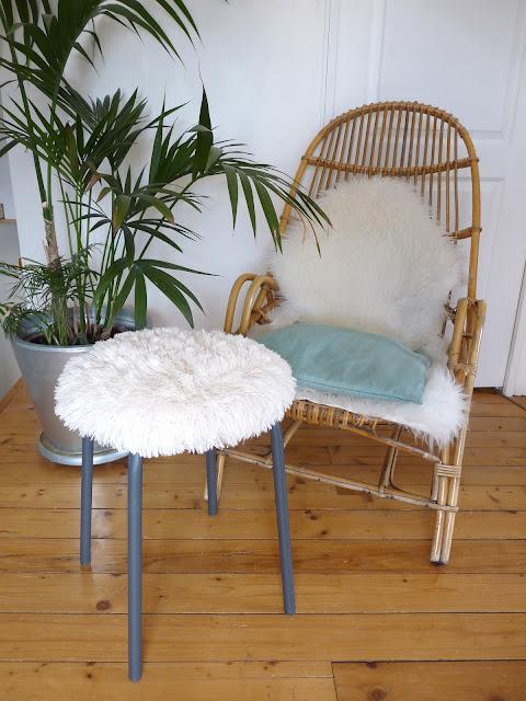 rue rivoirette diy le tabouret moumoute. Black Bedroom Furniture Sets. Home Design Ideas