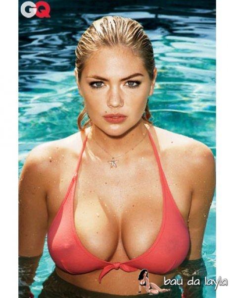 Kate Upton de bikini na GQ
