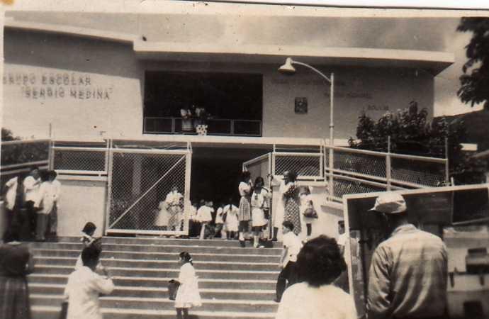FACHADA DE NUESTRA ESCUELA  EN EL AÑO 1960