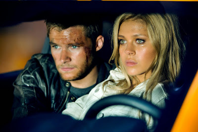 Nicola Peltz and Jack Reynor in Transformers Age of Extinction