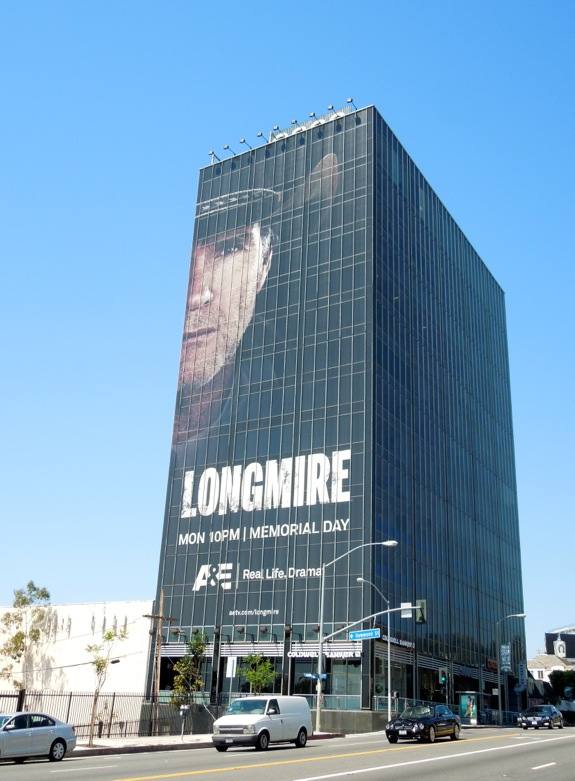 Giant Longmire season 2 billboard Sunset Strip