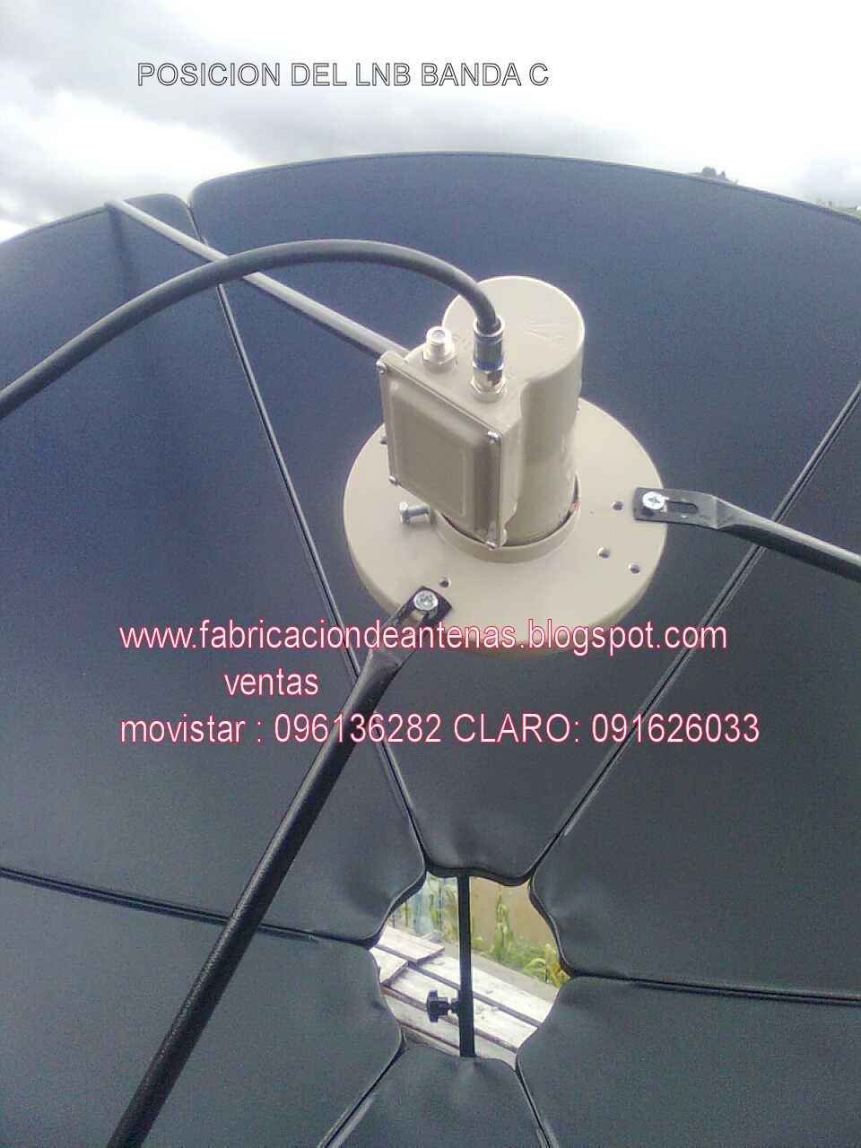 Antenas de television antena parabolica banda c - Precios de antenas de television ...