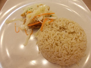 Brown Rice And Side Veggie In Nonya Assam Curry Set