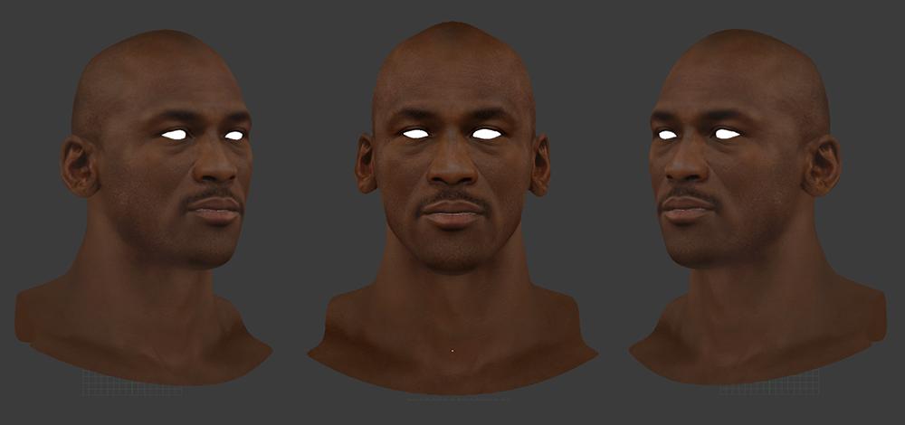 Michael Jordan 3D Face