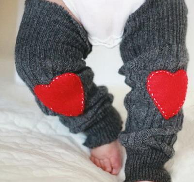 Гетры с сердечками для малыша