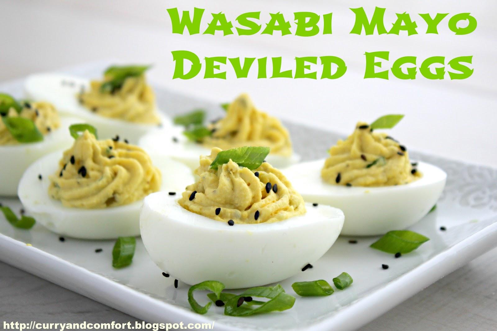 Kitchen Simmer: Wasabi Mayo Deviled Eggs