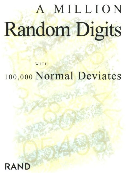 rand corporation book of random numbers