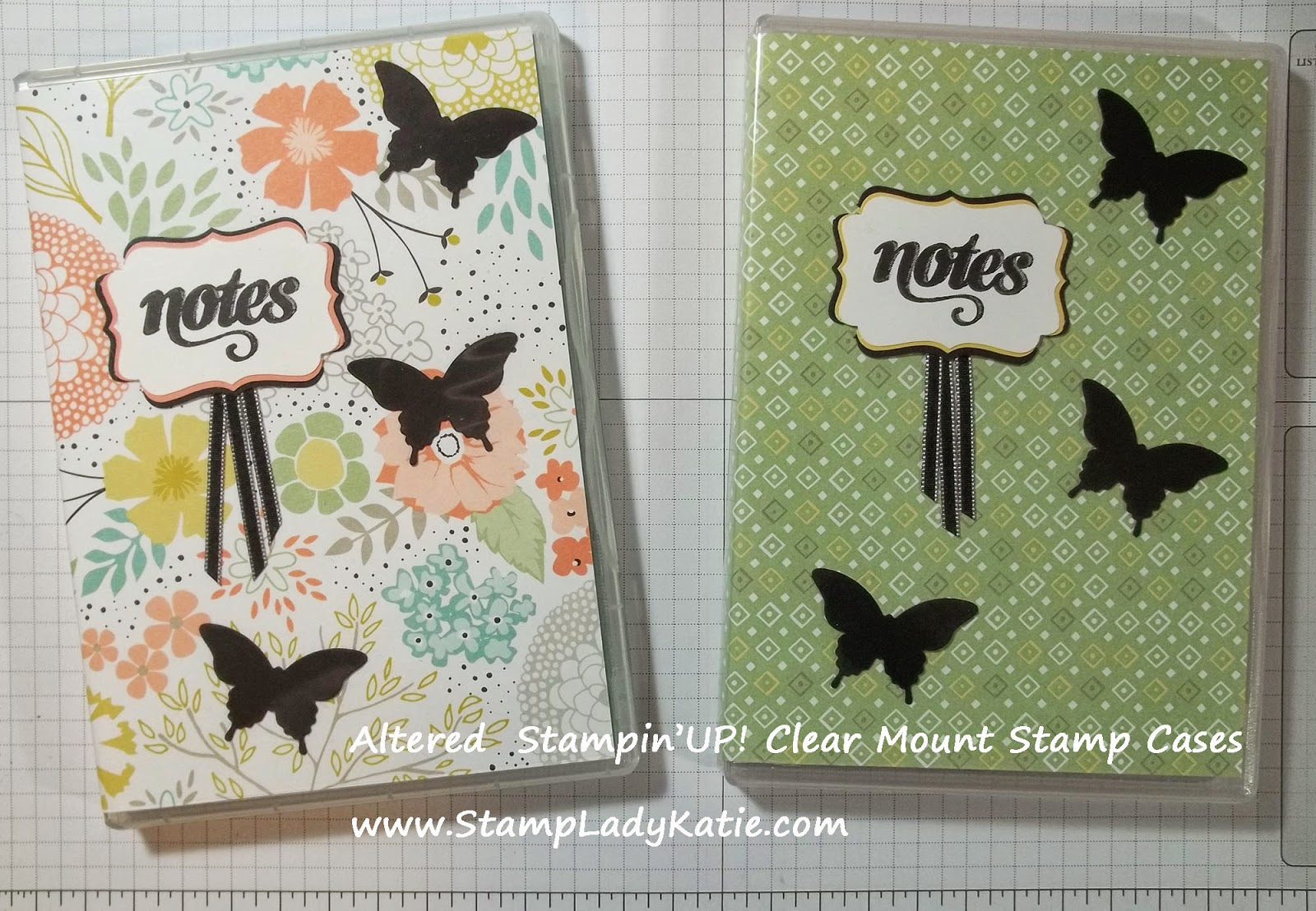 Altered Clear mount stamp case