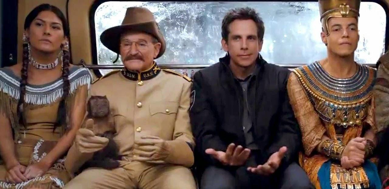 Ben Stiller, Owen Wilson e Ben Kingsley no trailer da comédia Uma Noite no Museu 3, de Shawn Levy