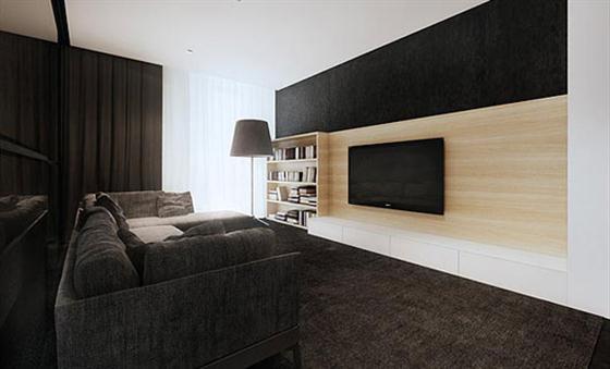 dicas simples de decoracao de interiores:Black and White House Interior Design