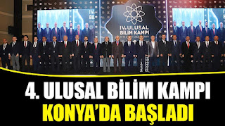 4. Ulusal Bilim Kampı Konya'da Başladı