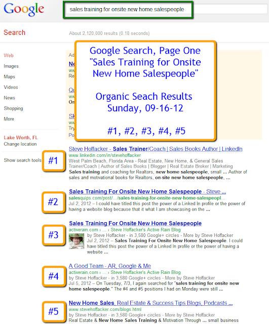 Steve Hoffacker on Google