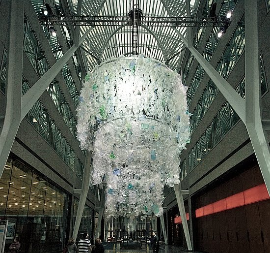 Creative and Cool Ways To Reuse Old Plastic Bottles – Plastic Bottle Chandelier