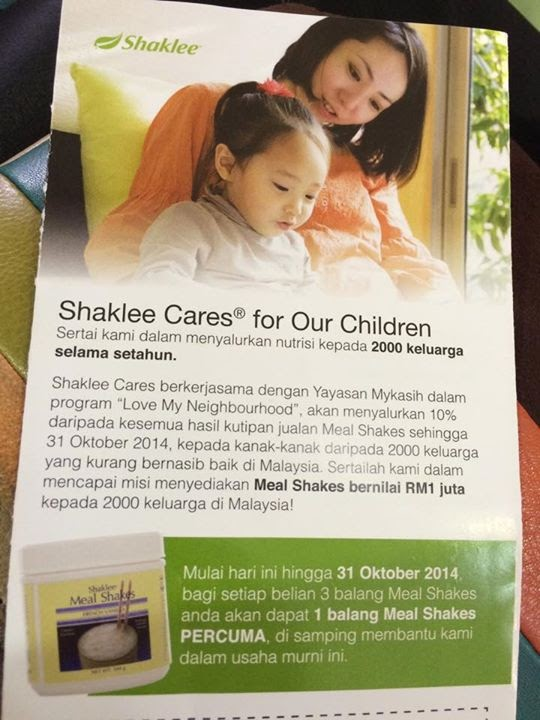 Poster : Shaklee Cares for Our Children